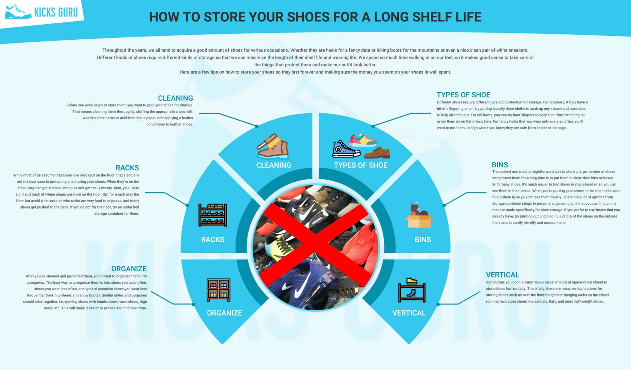 How to store your shoes for a long shelf life