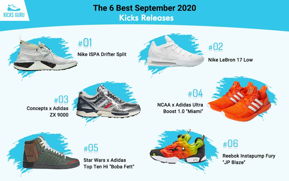 The 6 Best September 2020 Kicks Releases