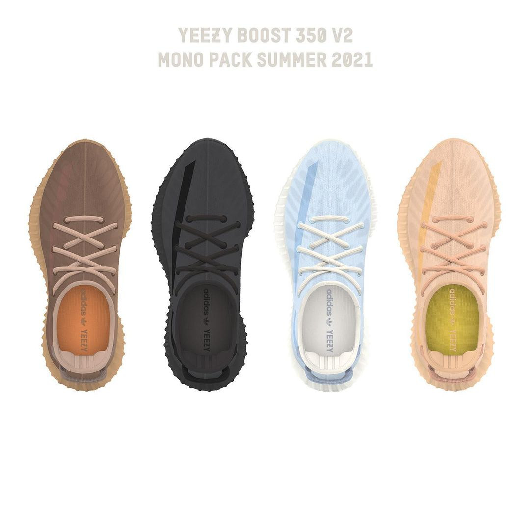 Yeezy Boost 350 Mono Pack Colorways