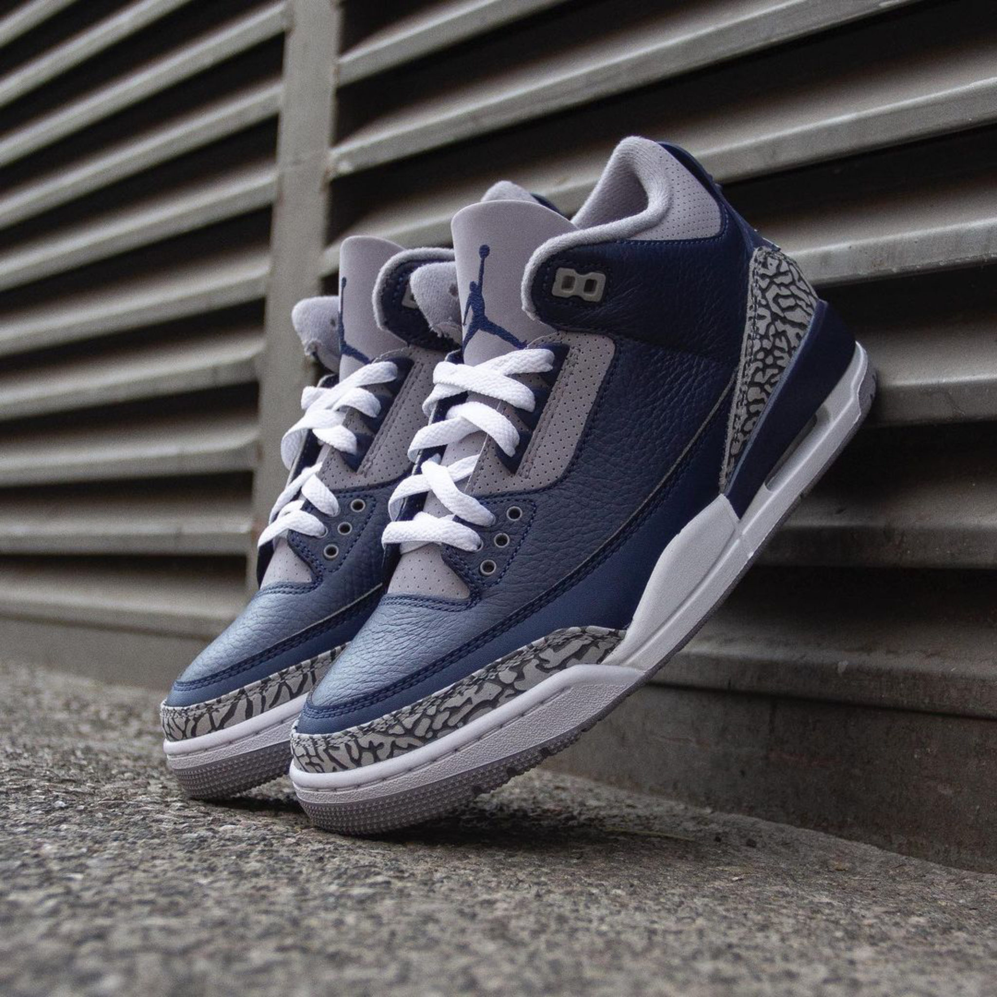 "Sneaker Details for the new Air Jordan 3 Midnight Navy aka ""Georgetown 3's"""