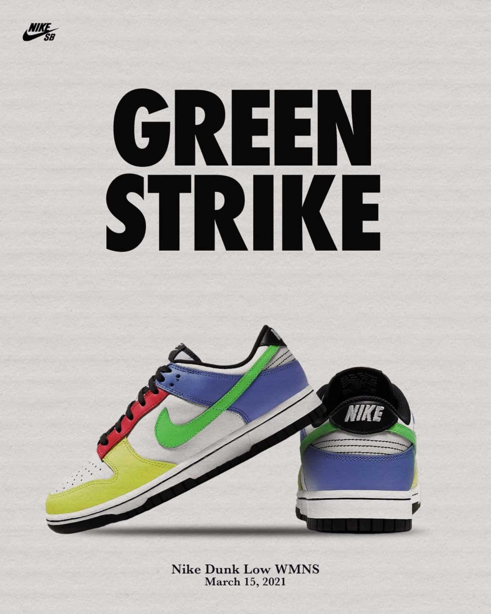 Women's Dunk Low Green Strike